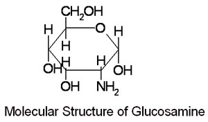 glucosamina estructura molecular